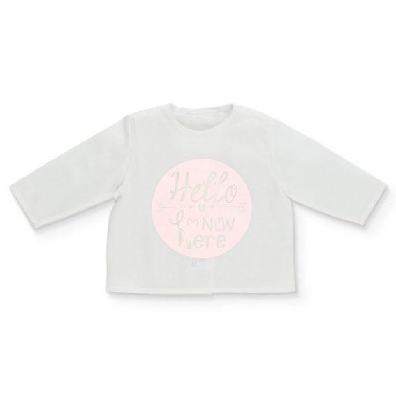 camiseta batista rosa bebe